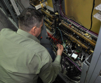 STER PMU installation in an electrical cabinet in TS Rijeka 110/35kV